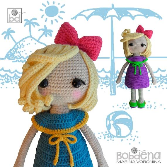 Crochet Pattern Doll Veronicadoll Crochet Patternamigurumi Pattern