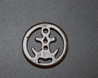 Bakelite Nautical Anchor Button