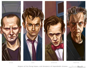 Doctor Who: The Modern Doctors Quadriptych