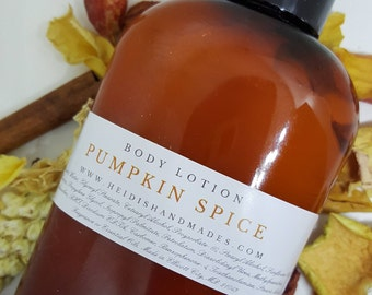 Pumpkin Spice Lotion - Pumpkin Spice Body Lotion - Pumpkin Spice Hand and Body Lotion