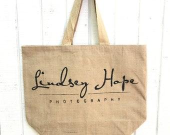 Burlap tote,Customized Burlap totes, jute tote bag, burlap beach bag, customized bag, burlap bag