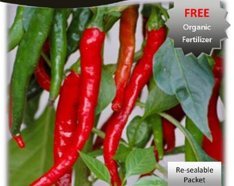 Cayenne Long Slim Pepper 100 Seeds Packet