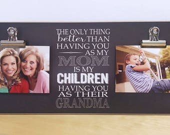 Mother's Day Present For Mom, Mother's Day Gift For Grandma, Custom Photo Frame, Personalized Picture Frame Gift For Mom, Grandma Gift