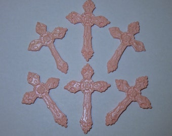 12 x Cross Christening Baptism sugar paste decoration cake cupcake toppers