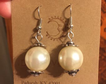 "Romantic Dangle Earrings ""Girl with the Pearl Earring"" Handmade"