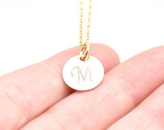 Initial Necklace | Gold Monogram Necklace | Custom Necklace | Name Necklace | Personal Gift | Last Minute Gift | Hand Stamp Jewelry