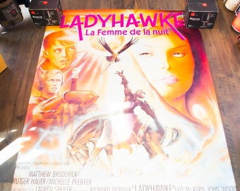 LADYHAWK (1985) Very Rare 4 x 6 ft french Grande Rolled Giant Movie Poster Original Vintage Collectible
