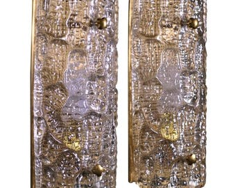 Pair of Sconces by Carl Fagerlund for Orrefors