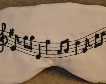 Embroidered Eye Mask, Music, Sleeping, Cute Sleep Mask for Kids or Adults, Sleep Blindfold, Slumber Mask, Music Design, Sleep Shade Handmade