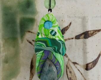 Aquamarine Fairie Magick Toadstool