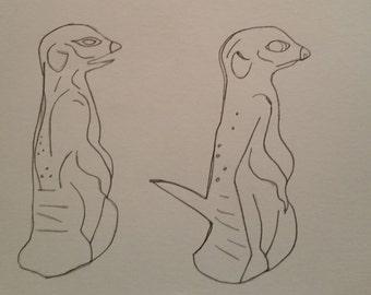 Personalised Meerkat Pattern (Small Scale)