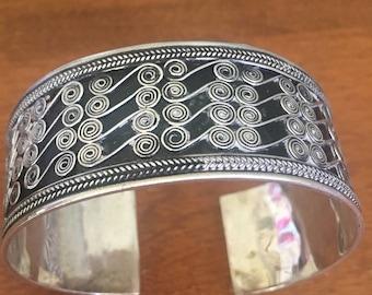 Sterling Silver Bracelet, Sterling Cuff,  silver cuff, silver bracelet