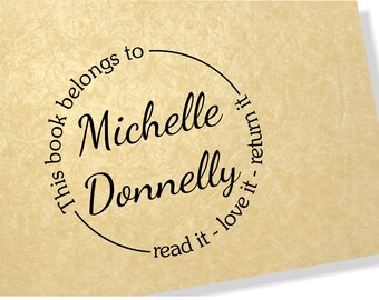 Personalised Clear Stamp - This book belongs to Stamp - 00105