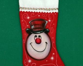 Christmas stocking Snowman