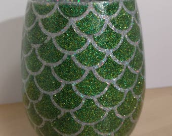 Dragon Egg Wine Glass - Green