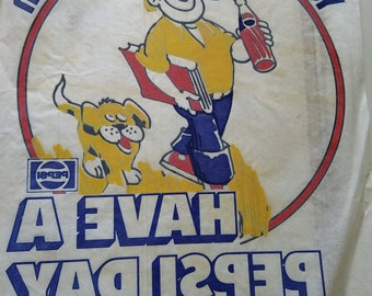 Old School Vintage Iron on Tshirt Transfer Decal Pepsi 1970s Retro Fashion 70s Culture