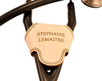 Stethoscope ID Tag, Stethoscope Charm, White Stethoscope Name Tag, Medical Student Gift, Gift for Doctor, ID Tag for Littmann Stethoscope