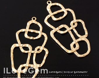 SALE/ 10pcs / NP-1002 Matt Gold plated, Pendant, Geometric Necklace Pendant