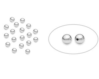 20 Pcs 3 mm Sterling Silver Seamless Round Beads (SS402003)