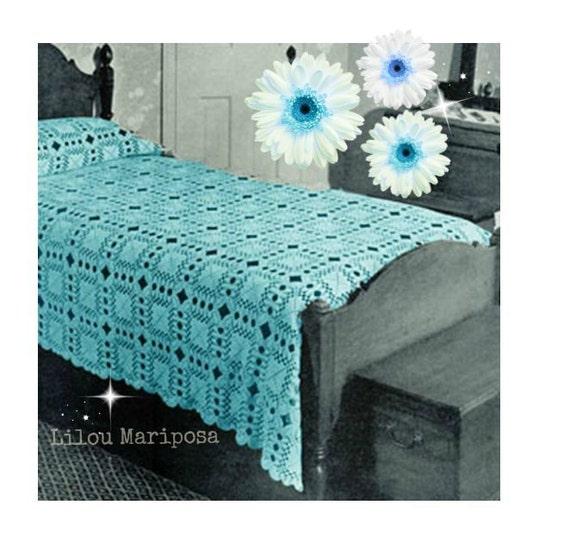 Crochet BEDSPREAD Pattern Vintage Crochet Blanket Pattern Crochet ...