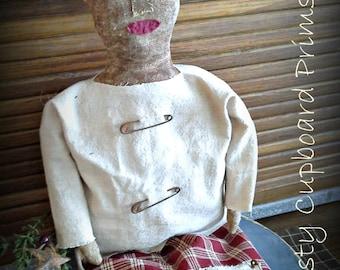 Noel ~Prim Christmas Doll winter everyday sewing epattern