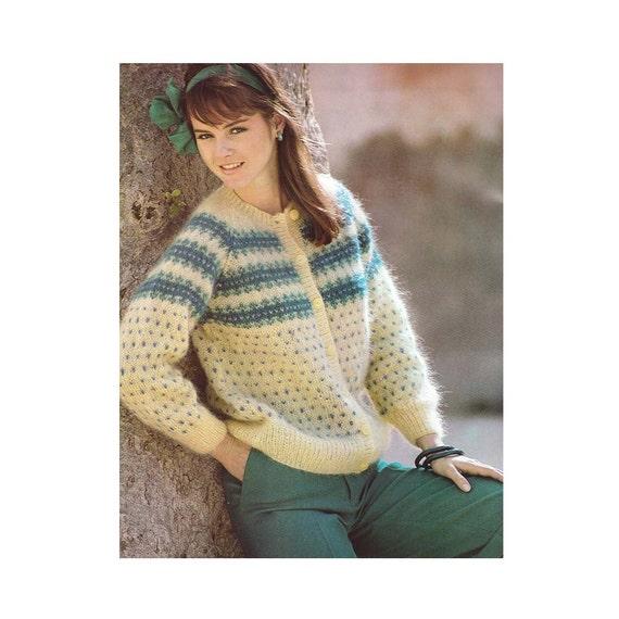 Knitting Pattern, Vintage PDF Patterns, Womens Fair Isle Knit ...