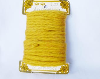 Vintage Gold Yarn Hair Ribbons Fiber
