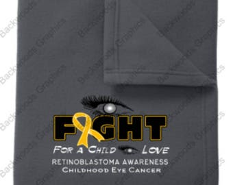 Eye Fight Throw Blanket