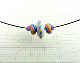 Rainbow Candy Necklace by Marie Segal 2016