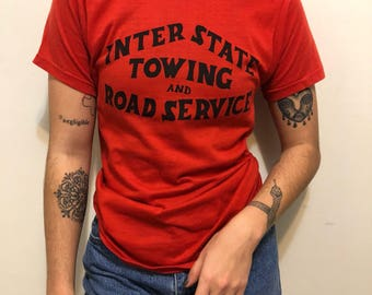 Vintage T shirt - Interstate towing - Retro design
