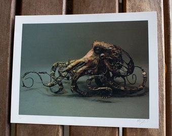 """A Mechanism of Character (Octopus) - Original Giclee Limited Edition Print - 8.5x11"""""""
