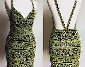 Aztec V back dress