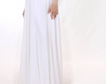 Wedding skirt White chiffon skirt  Long bridal skirt Bridal separates Women chiffon skirt