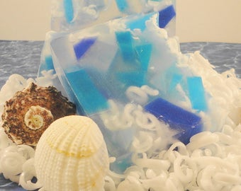 High Tides  Soap Made with Shea Butter - Glycerin Soap - Handmade Soap - Artisan Soap - Water Inspired Soap - Beach Soap - SoapGarden