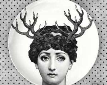Horn Lina Cavalieri plate