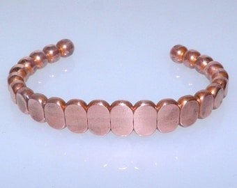 Beautiful Connecting Ovals Copper Bangle
