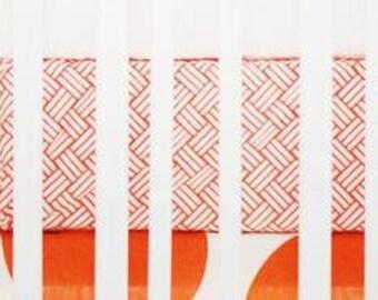 Spot On Tangerine Crib Baby Bedding   Crib Sheet