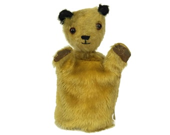 Vintage Sooty Bear Hand Puppet by Chad Valley Toys. Old Plush Teddy Bear Glove Puppet. Gifts For Kids. Nursery Decor.