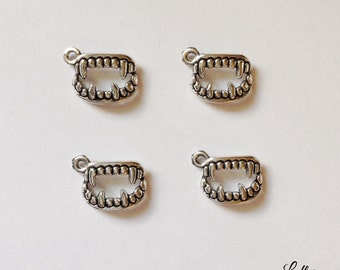 10 fangs charms vampire teeth - SCT109