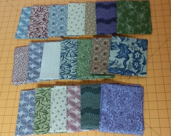 20 Fatquarters - FQ, Great for Turning 20 Quilts, Windham Reproduction Prints. Set 1
