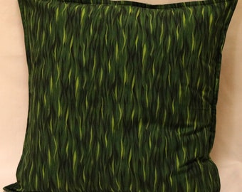 Cushion Cover, 18in Square Cushion Cover, Pillow Cover, Throw Pillow Cover, Multi Coloured Green