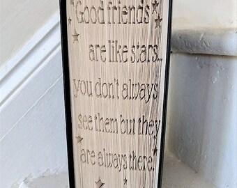 Good Friends Book Folding Pattern