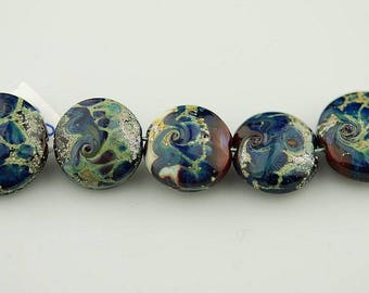 red lampwork beads glass beads organic beads sra Lara Lutrick