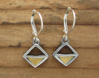 Sterling Silver and 24 Modern Earrings