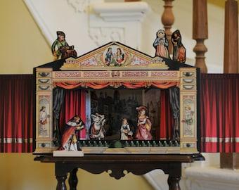 Vintage Victorian Theatre, Art, Child's Toy, Unique Gift, Fairy Tale, Story Book Theatre