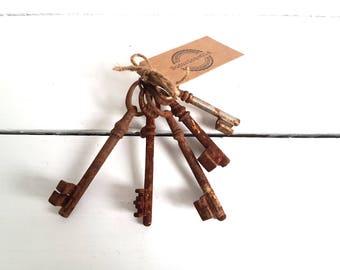 Vintage French rustic old keys * vintage keys * farmhouse keys