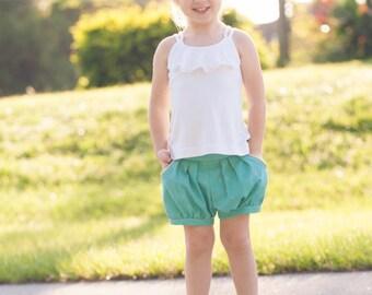 Rose Bubble Shorts, PDF Sewing Pattern, shorts girl toddler, baby shorts pattern, bubble shorts, sewing pattern pdf, sewing patterns, shorts