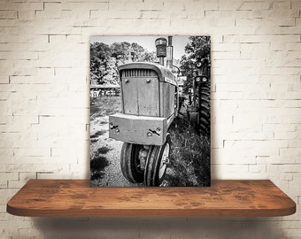 Tractor Photograph - Fine Art Print - Black & White Photography - Wall Art - Industrial -  Farm Pictures - Farmhouse Decor - Tractors