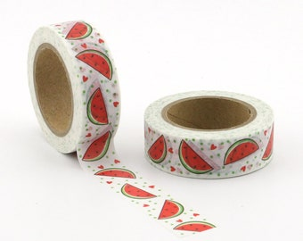 Summer Watermelon Washi Tape - Craft Supplies - Scrapbooking - PlannerStickers - Erin Condren - Bujo - Bible Journaling - Love My Tapes
