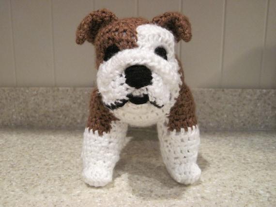 Bulldog Stuffed Animal Crochet Pattern Digital Download